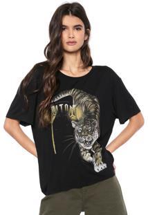 Camiseta Triton Tigre Preta