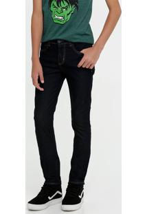 Calça Juvenil Jeans Skinny Bolsos Mr