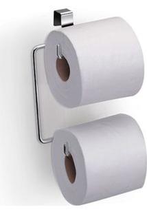 Porta Papel Higiênico Para Caixa Acoplada Aço Cromado Duplo Arthi