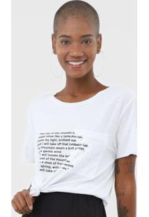Camiseta Sacada Texto Montain Branca