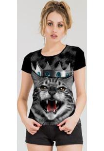 Camiseta Stompy Feminina Estampada 11 - Feminino-Preto