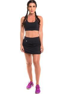 Conjunto Short Saia Com Proteção Solar Open Jogging - Sandy - Feminino