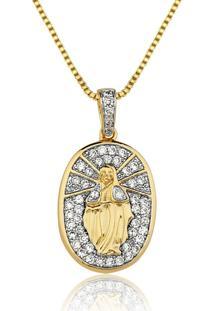 Colar Le Diamond Nossa Senhora Das Graças Pequeno Dourado - Kanui