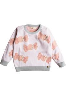 Casaco Suéter Ttricô Mini Lady Balinhas - Tricae