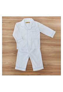 Pijama Stripe Longo Para Bebê Menino Meu Ateliê Baby