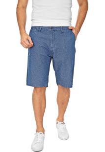 Bermuda Jeans Lacoste Chino Lisa Azul