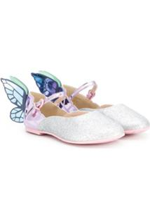 Sophia Webster Mini Sapatilha Butterfly - Rosa