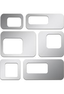 Espelho Decorativo Acrilize Pontos Quadrados Prata