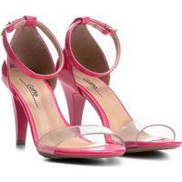 c268cae194 Sandália Griffe Salto Fino Vinil Feminina - Feminino-Pink