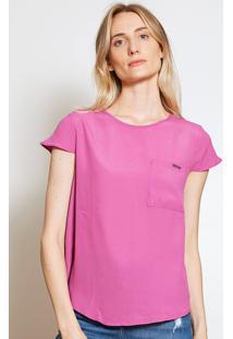 Camiseta Forum Bolso Rosa - Kanui