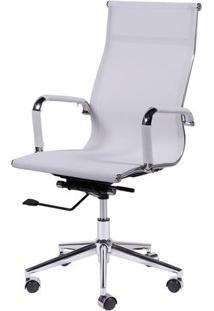 Cadeira Office Eames Tela Alta Giratória- Branca- 11Or Design