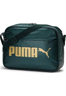 Bolsa Puma Campus Reporter - Unissex-Verde+Dourado