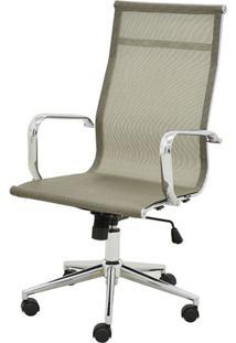 Cadeira Sevilha Eames Alta Cromada Tela Dourada - 38047 - Sun House