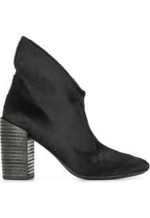 Marsèll Ankle Boot Salto Bloco Com Recorte - Preto