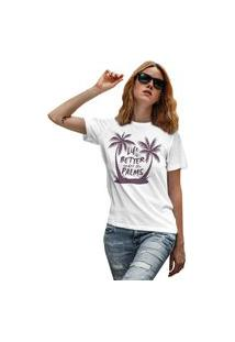 Camiseta Feminina Mirat Under The Palms Branco