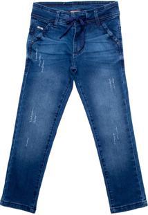Calça Jeans Infantil Oznes Reta Menino Azul - 4