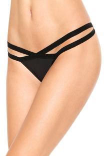 Calcinha Calvin Klein Underwear String Elástico Preta