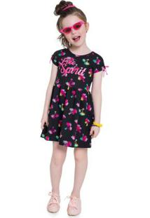 Vestido Infantil Menina Preto