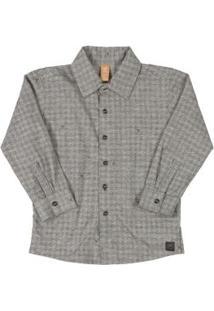 Camisa Losango Cinza