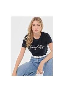 Camiseta Tommy Hilfiger Heritage Graphic Azul-Marinho