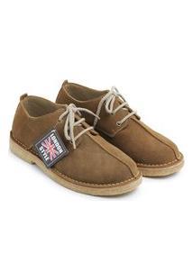 Sapato Masculino Estilo Inglês London Style Modelo Liverpool Cor Castor