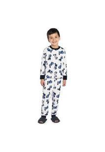 Pijama Infantil Masculino Urso Rovitex Kids Branco