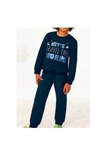Pijama Malwee 1000077446 Infantil Azul Marinho