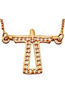 Colar Le Diamond Cristo Redentor Rosa - Kanui