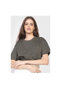 Camiseta Hering Bolso Verde