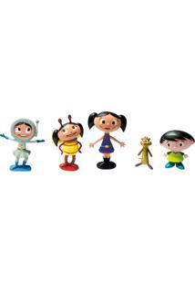 Conjunto De Personagens - 5 Mini Figuras - O Show Da Luna - Brincando Com A Turma Da Luna - Dtc - Unissex-Incolor