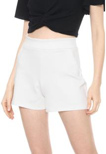 Short Mercatto Recortes Off-White