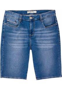 Bermuda Jeans Hering Slim Moletom Masculina - Masculino-Azul
