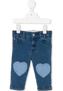 Stella Mccartney Kids Calça Jeans Com Patch - Azul