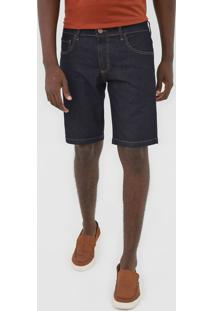 Bermuda Jeans Forum Reta Paul Azul-Marinho