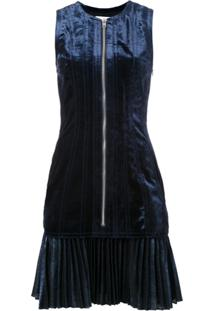 3.1 Phillip Lim Vestido De Veludo - Azul