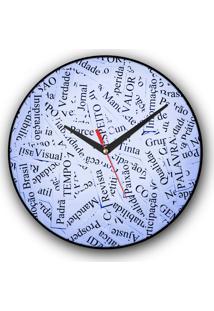 Relógio De Parede Colours Creative Photo Decor Decorativo, Criativo E Diferente - Palavras