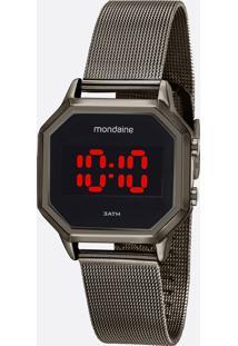Relógio Unissex Digital Led Mondaine 32094Mpmvse2