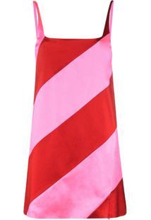 House Of Holland Vestido Mini Listrado - Rosa