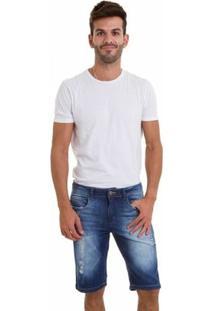 Bermuda Jeans Versani Masculina - Masculino-Jeans