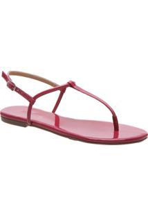 Rasteira Slim Verniz Pink   Anacapri