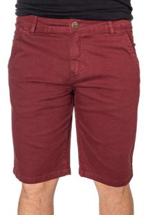Bermuda Sarja Vinho Efex Jeans