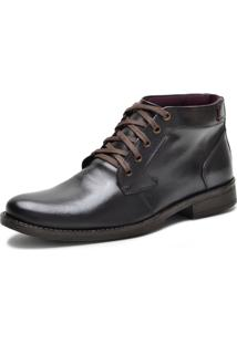 Bota Casual Over Boots Dallas Couro Soft Marrom Escuro