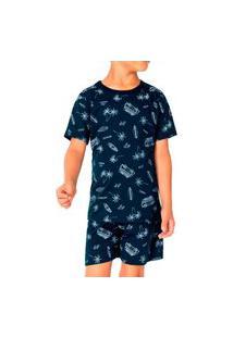 Pijama Infantil Menino Malwee 1000083385 Azul Marinho