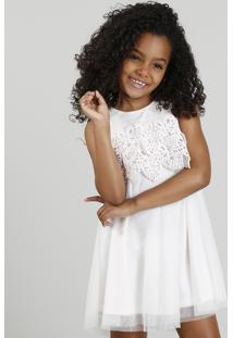 Vestido Infantil Em Tule Com Renda Rosa Claro