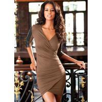 7ac18678f Vestido Elastano Sintetico feminino