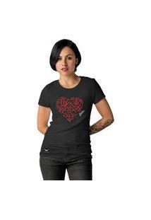 Camiseta Feminina Cellos Heart Premium Preto