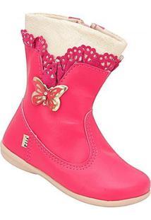 Bota Bebê Plis Calçados Feminina - Feminino-Pink