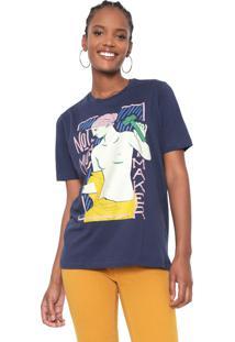 Camiseta Cantão Not A Muse Azul-Marinho