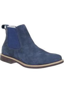 Bota Couro Urbana Boots Masculina - Masculino-Azul