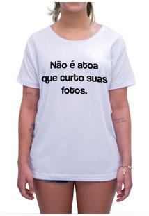 Camiseta Estampada Impermanence Curto E Comento Branca